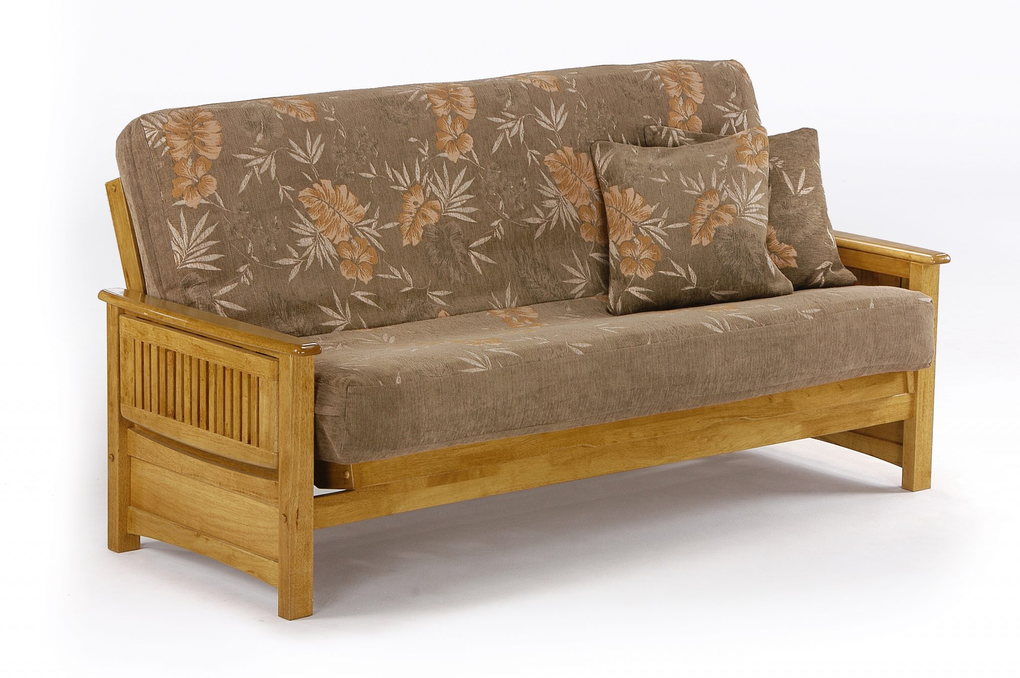 Futon Sunrise Arm Honey Oak